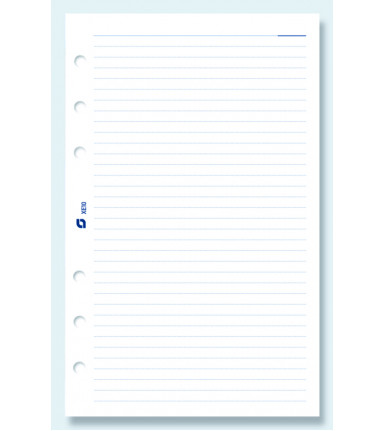 Notepaper, ruled, white