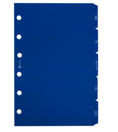 Tabs, 5-piece, blue