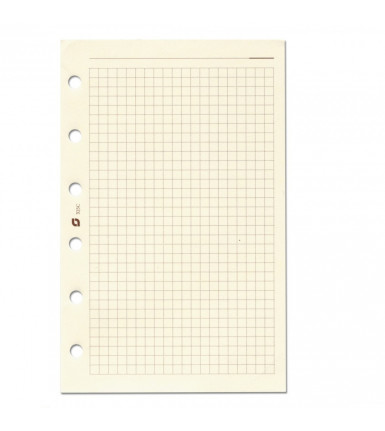 Notepaper, checkered, creme