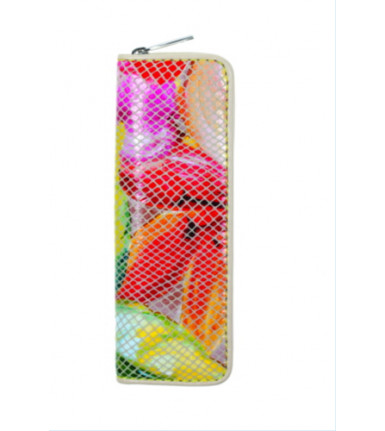 2-compartment Pencase with zipper Sunny Flower