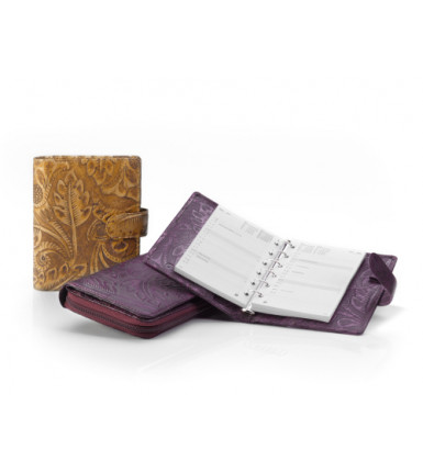 Ladies wallet with zipper Fiori Doppio bronze