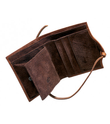 Wallet with flap Fred de la Bretoniere Vintage brandy