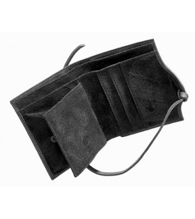 Wallet with flap Fred de la Bretoniere Vintage black