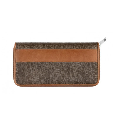 Wallet with zipper London brown