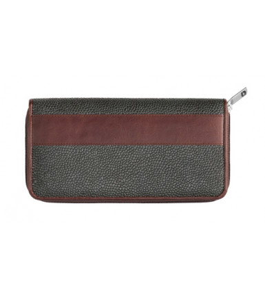 Wallet with zipper London grey