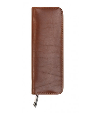 2-compartment Pencase with zipper Sandton brandy