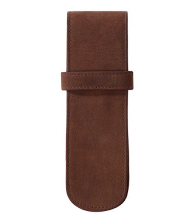 2-compartment Pencase Hunter brown