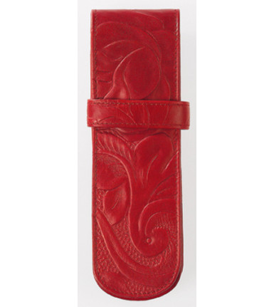 2-compartment Pencase Rosa red