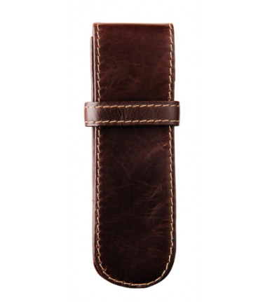 2-compartment Pencase Santiago brown